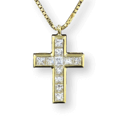 RICH CROSS NECKLACE